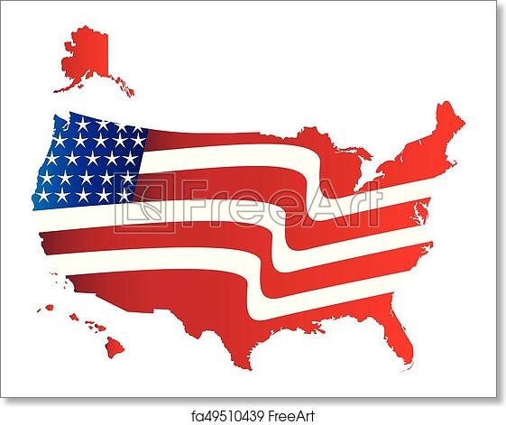 Free art print of US Flag Map Logo Image Of The United States Flag Map on american revolution bicentennial flag, map of the united states area codes, texas united states flag, map of the united states black, map of the world flag, map of the statue of liberty, map of the philippines flag,