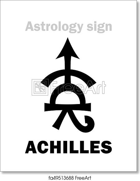 Free art print of Astrology: asteroid ACHILLES  Astrology