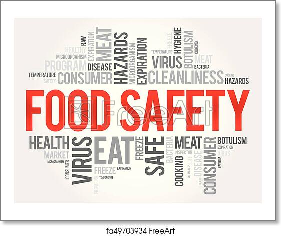Free art print of Food Safety word cloud collage, concept background