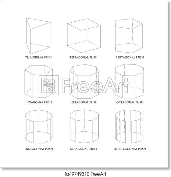 free art print of 3d prisms template realistic with shadow 3d
