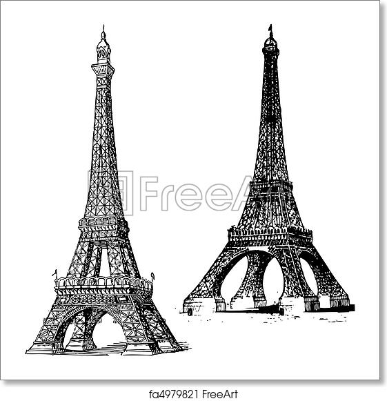 free art print of vector eiffel tower set of vector eiffel towers freeart fa4979821 free art print of vector eiffel tower