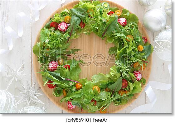 Free Art Print Of Wreath Salad For Christmas And New Year Wreath