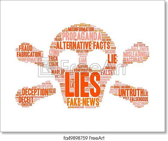 Free art print of Lies Word Cloud