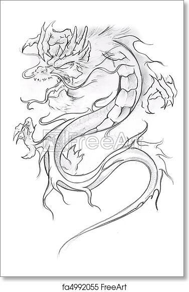 Dragon Artwork Sketch