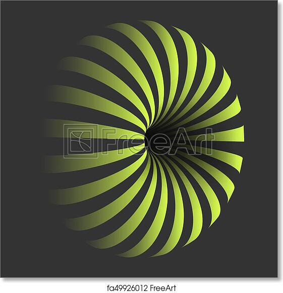 Free art print of Vector Spiral Optical Illusion Template. Spiral ...