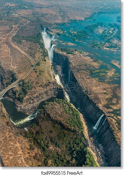 Free Art Print Of Victoria Falls In Zimbabe At Drought