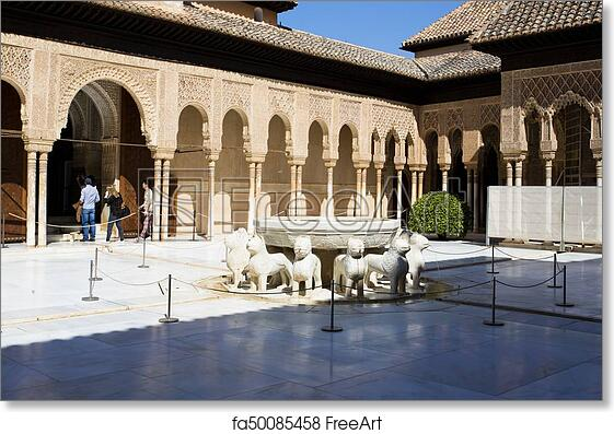 Free Art Print Of Alhambra Of Granada Andalusia Spain Patio De