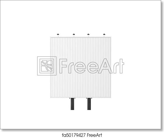 Free Art Print Of Blank Square White Trivision Billboard Mock Up