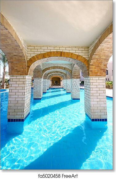 Free art print of Pool under bridge