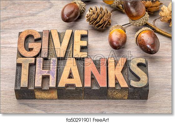 Free Art Print Of Give Thanks