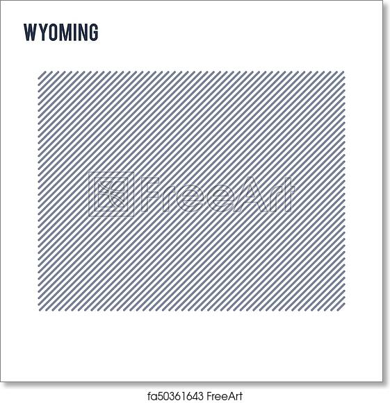 Free Wyoming State Map.Free Art Print Of Vector Abstract Hatched Map Of State Of Wyoming