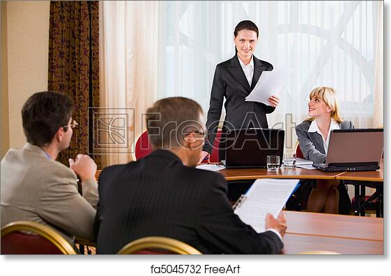 Excellent Free Art Print Of Business Meeting Home Interior And Landscaping Ponolsignezvosmurscom