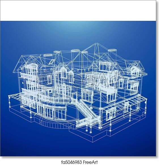 Free art print of architecture blueprint of a house architecture free art print of architecture blueprint of a house malvernweather Image collections