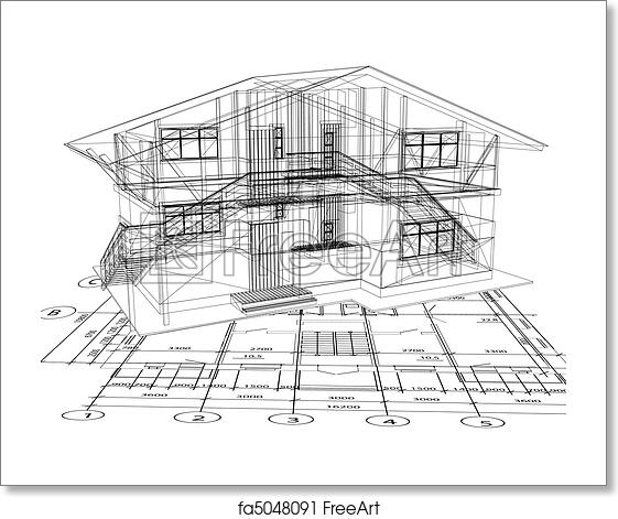 Free art print of architecture blueprint of a house vector free art print of architecture blueprint of a house vector malvernweather Image collections