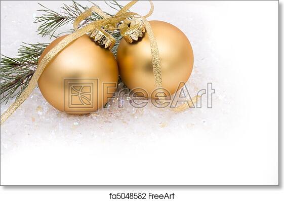 Free Art Print Of Christmas Ornaments