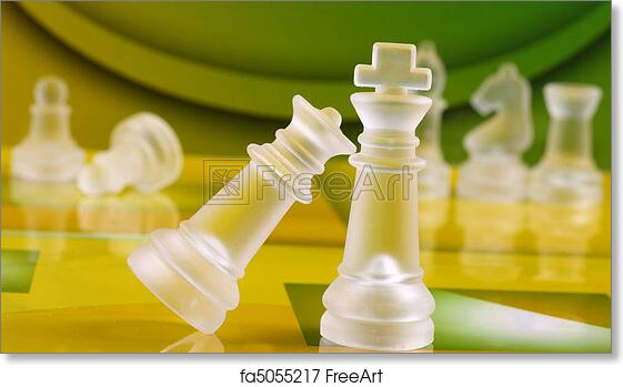 Free Art Print Of Chess Coins Chess Coins On Green And Yellow