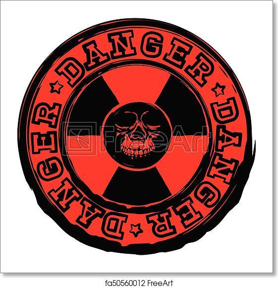 Free Art Print Of Skull Stamp Radioactivity Danger