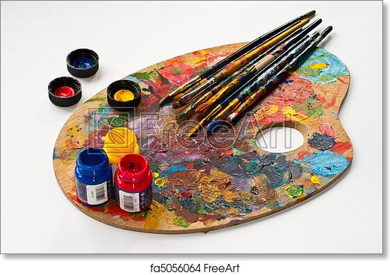 Free Art Print Of Art Palette Brushes And Paints