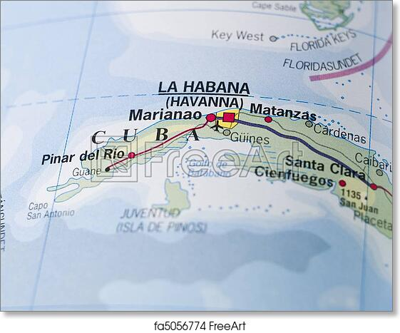 graphic about Printable Map of Cuba identified as Absolutely free artwork print of Map of Cuba