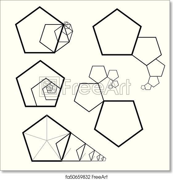 Golden Ratio Pentagon Section Prose Template Of Building Proportions Sacred Geometry Fibonacci Series