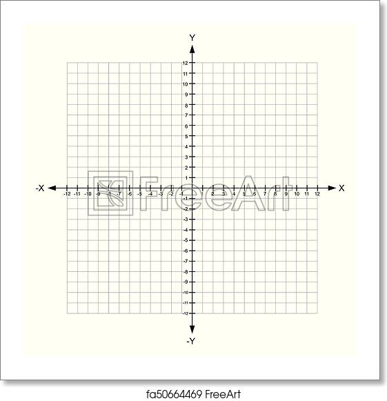 Free Art Print Of Blank X And Y Axis Cartesian Coordinate