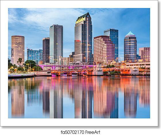 Free Art Print Of Tampa Bay Skyline. Tampa, Florida, USA