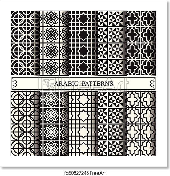 Free Art Print Of Arabic Vector Pattern Pattern Fills Web Page