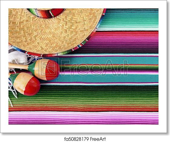 Free Art Print Of Mexico Cinco De Mayo Background Mexican Sombrero