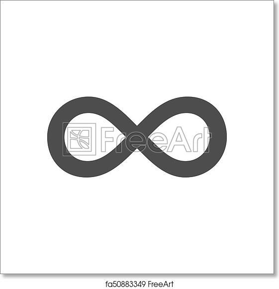 free art print of infinity symbol loop figure 8 icon eternity logo