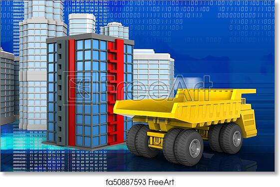 image about Free Printable 3d Buildings called No cost artwork print of 3d of developing