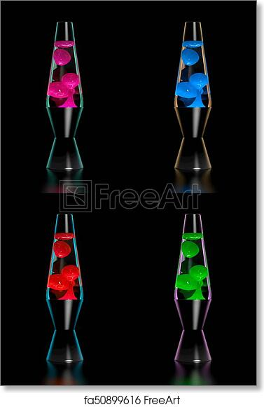 Pictures Of Lava Lamps Awesome Free Art Print Of Lava Lamp Set Of Four Lava Lamps 60ies Style