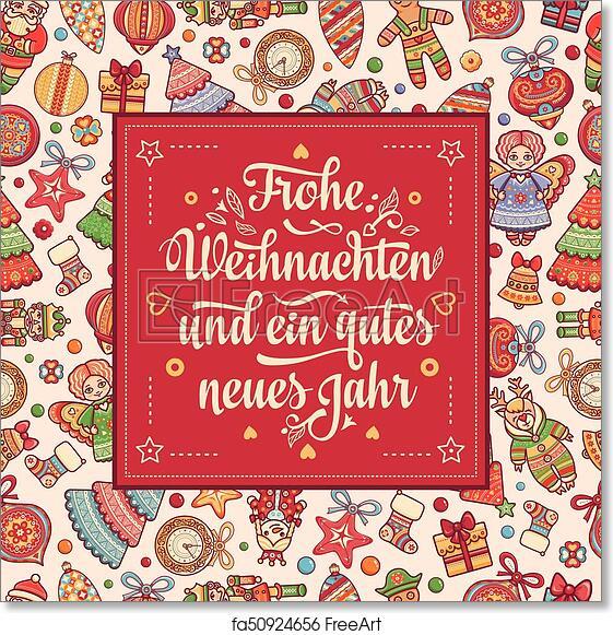 Frohe Weihnachten Aus Deutschland.Free Art Print Of Frohe Weihnacht Xmas Congratulations In Germany