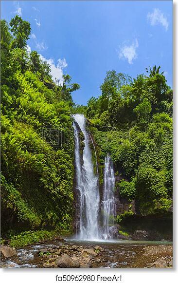 Free Art Print Of Sekumpul Waterfall Bali Island Indonesia