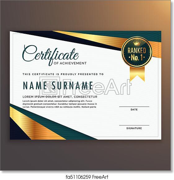 Free Art Print Of Premium Modern Certificate Template Vector Design