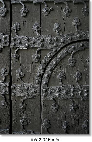 Free art print of Gothic door  sc 1 st  FreeArt & Free art print of Gothic door. Section of an old gothic door showing ...