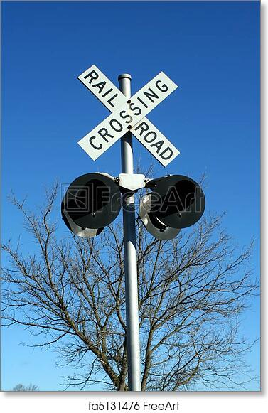 graphic relating to Railroad Crossing Sign Printable identify Totally free artwork print of Railroad crossing indication