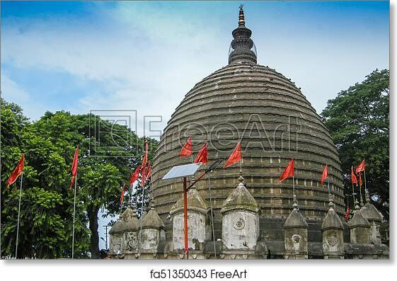 Free Art Print Of View Of Kamakhya Temple Guwahati Assam The