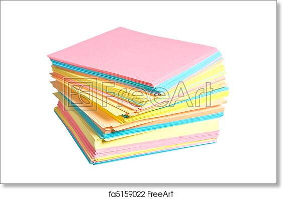Free Art Print Of Stack Colored Paper