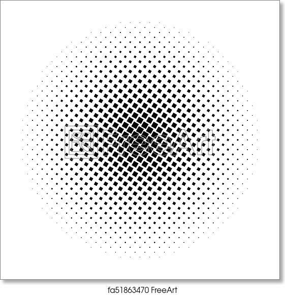 Free Art Print Of Halftone Square Dot Vector Texture Halftone