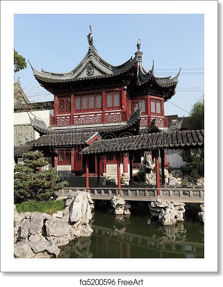 Free Art Print Of Traditional Chinese Building In Yuyuan Garden