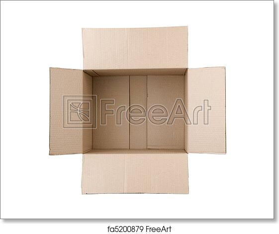 Free art print of Open corrugated cardboard box