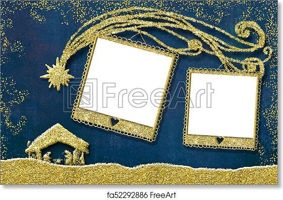 Free Art Print Of Christmas Two Photo Frames Card Christmas Photo
