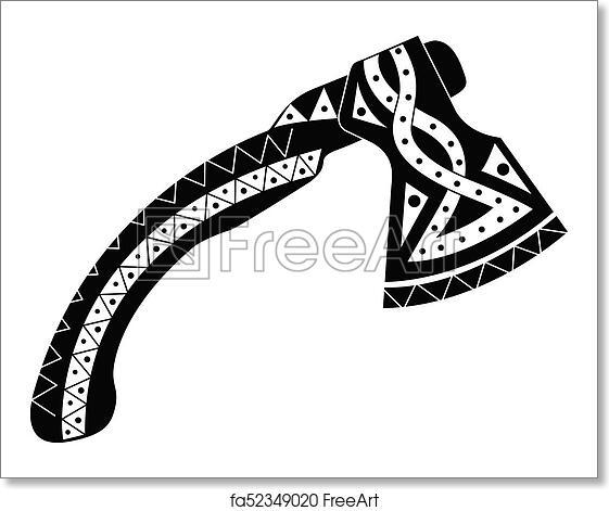 Free Art Print Of Viking Ax With Patterns Viking Ax With Patterns Best Viking Patterns