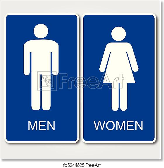 picture regarding Women's Restroom Sign Printable referred to as No cost artwork print of Restrooms Signal