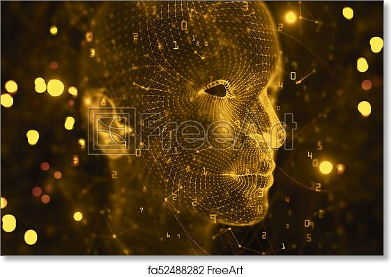 Free Art Print Of Artificial Intelligence Cyberspace And Robotics