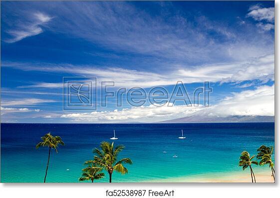 Free Art Print Of Kaanapali Beach Maui
