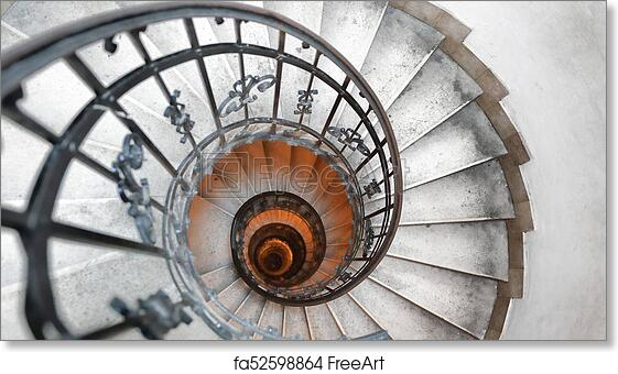 Free art print of Spiral staircase in an old house  Fibonacci spiral
