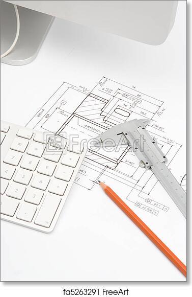 Free art print of engineering blueprints mechanical engineer free art print of engineering blueprints malvernweather Images
