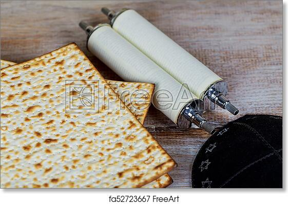 Free Art Print Of Matzot And Red Wine Symbols Of Passover Matzot
