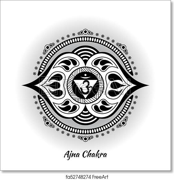 Free Art Print Of Ajna Chakra Design Ajna Chakra Symbol Used In